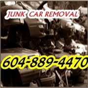 JUNK CAR REMOVAL LANGLEY CLOVERDALE 604-889-4470 SURREY SCRAP VAN TOW