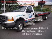 Junk car  Removal la Féraille /Scrap (514 )836-0593.(514)776-7555