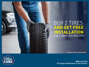 Get Free Tire Installation with Urban Lube