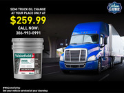 Semi Truck Oil Change Offer